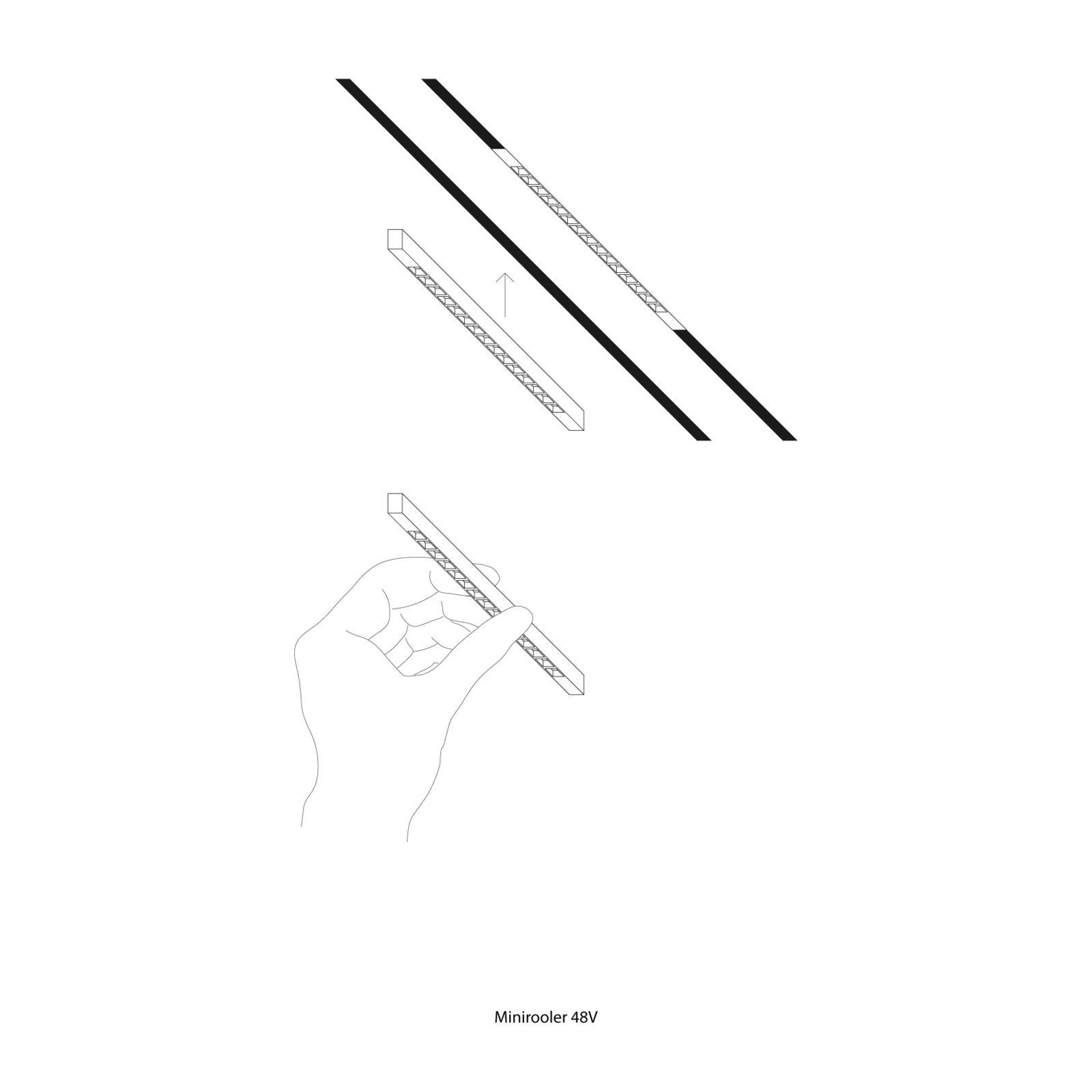 Minirooler 48VDC 17W 3000K CRI90