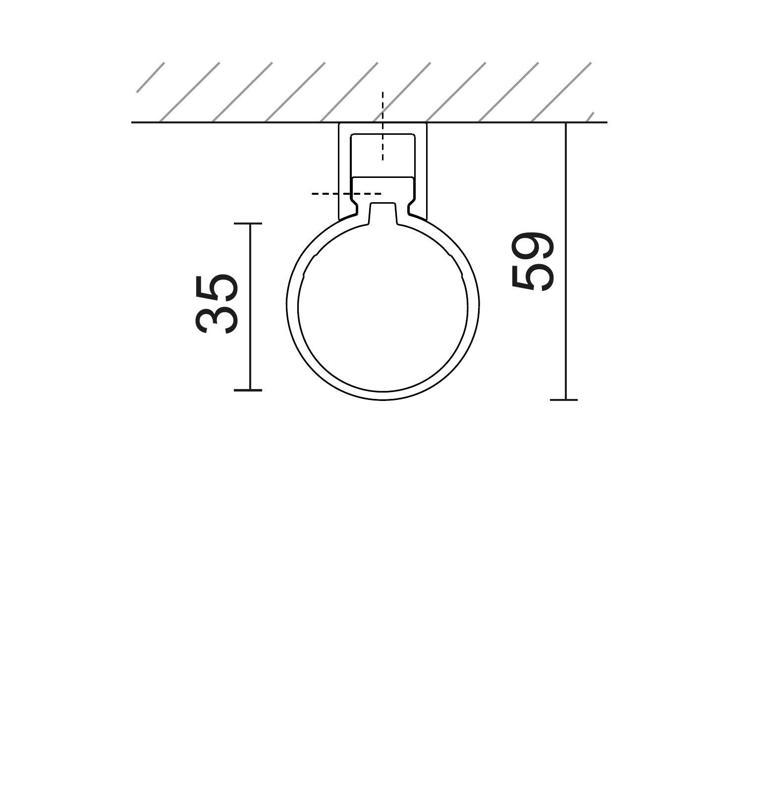 Kit montaggio parete/soffitto